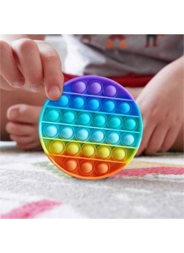 Mashotrend Gökkuşağı Push Pop - Pop It Push Bubble Fidget Özel Pop Duyusal Oyuncak Zihinsel Stres Renkli